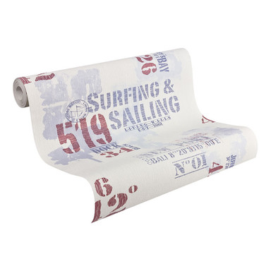 Mustertapeten Livingwalls Tapete Surfing & Sailing Blau, Rot, Weiss