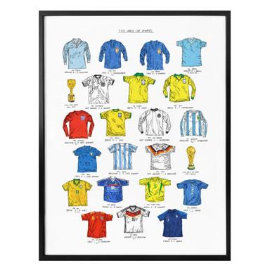 Poster Sparshott - Fussballtrikots Weltmeisterschaft