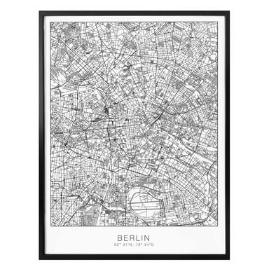 Poster Stadtplan Berlin