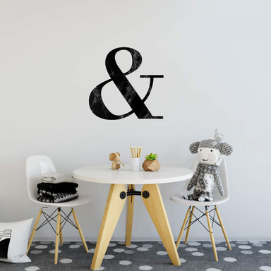 Wandtattoo- Black Marble Ampersand
