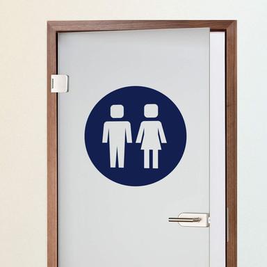 Wandtattoo Emoji WC