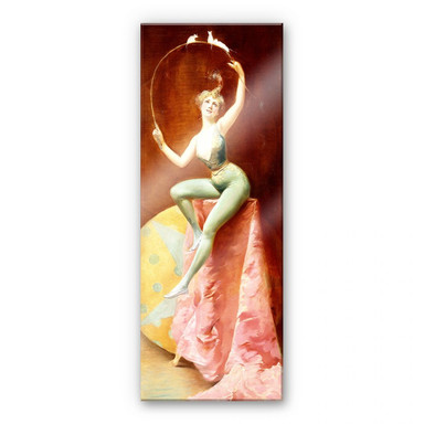 Acrylglasbild Penot - Tänzerin mit drei weissen Mäusen