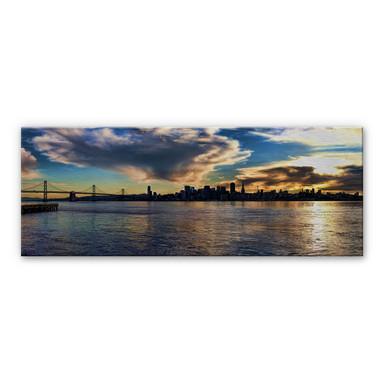 Alu Dibond Bild San Francisco Skyline - Panorama