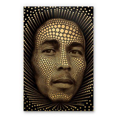 Alu-Dibond-Goldeffekt - Ben Heine - Circlism Bob Marley