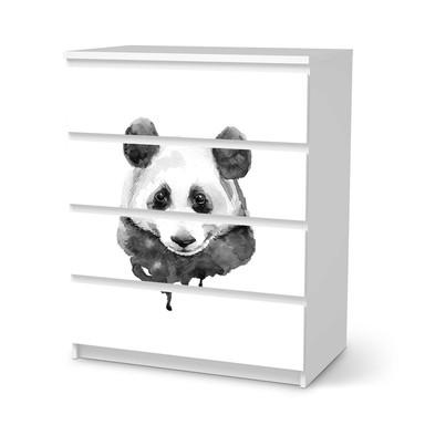 Folie IKEA Malm Kommode 4 Schubladen - Watercolor Panda- Bild 1