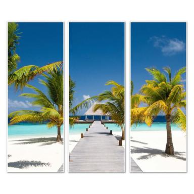 Hartschaumbild Der Weg ins Paradies (3-teilig)