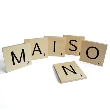 Holzbuchstaben Buchstabensteine Maison