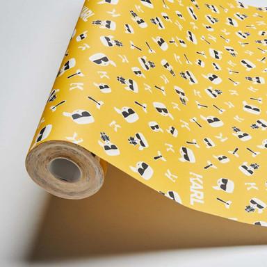 Karl Lagerfeld Wallpaper Vliestapete Ikonik gelb, schwarz, weiss