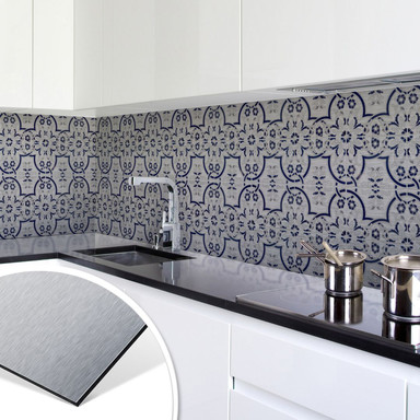 Küchenrückwand - Alu-Dibond-Silber - Holland Kacheln 03