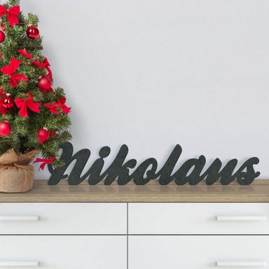 MDF-Holzbuchstaben Nikolaus
