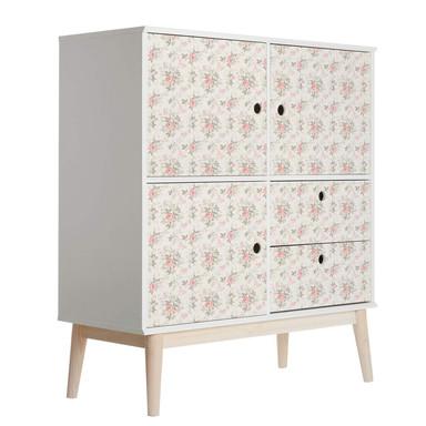 Möbelfolie, Dekofolie - abwischbar - Rosen und Schmetterlinge