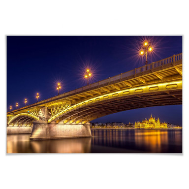 Poster Mørkeberg - Budapest bei Nacht