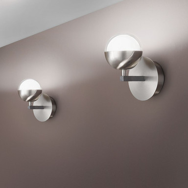 Schicke LED Wandleuchte Melville in Nickel satiniert