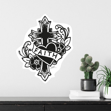 Wandsticker LA Ink Faith