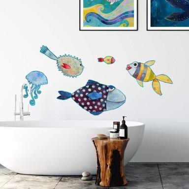 Wandtattoo Blanz - Fische im Meer