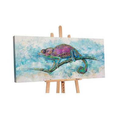 Acryl Gemälde handgemalt Leguan 140x70cm - Bild 1