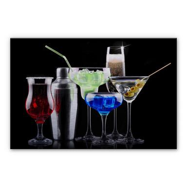 Alu-Dibond Bild Girly Cocktails