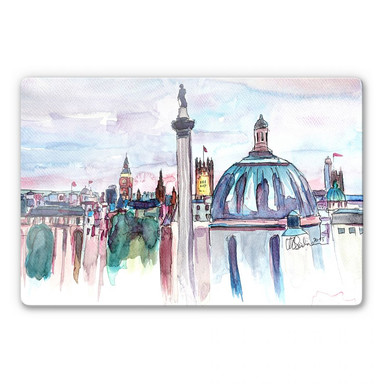 Glasbild Bleichner - London Skyline
