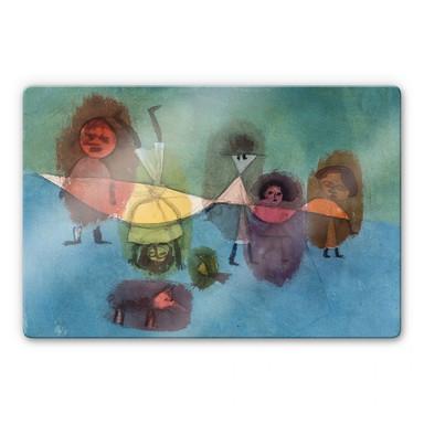 Glasbild Klee - Kindergruppe