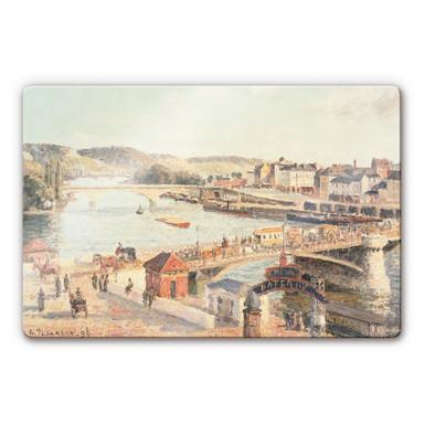 Glasbild Pissarro - Ein sonniger Nachmittag in Rouen