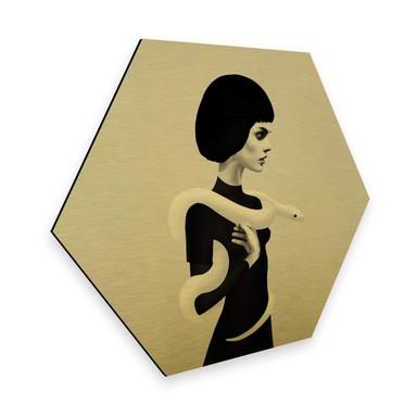 Hexagon - Alu-Dibond-Goldeffekt Ireland - Only Skin