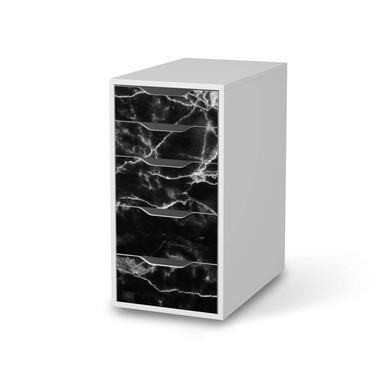 Klebefolie IKEA Alex 5 Schubladen - Marmor schwarz