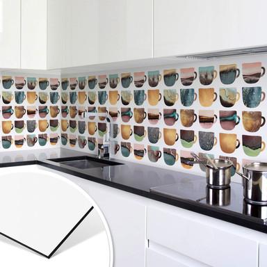 Küchenrückwand Fredriksson - Kaffeetassen: Pretty Nature