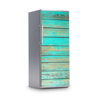 Kühlschrankfolie 60x150cm - Wooden Aqua- Bild 1