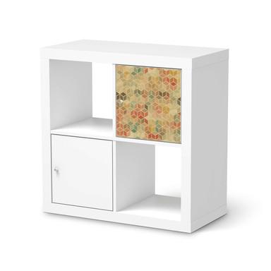 Möbelfolie IKEA Kallax Regal 1 Türe - 3D Retro