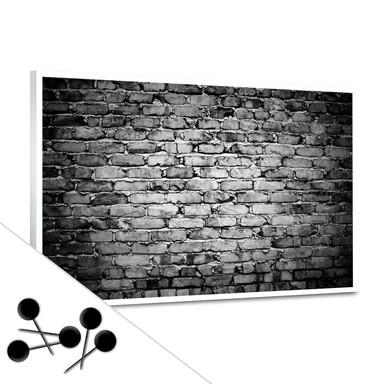 Pinwand Mauer 04 inkl. 5 Pinnadeln - Bild 1