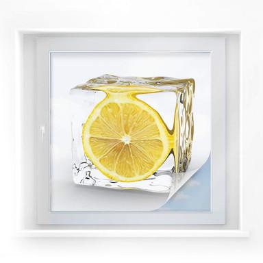 Sichtschutzfolie Zitroneneiswürfel - quadratisch