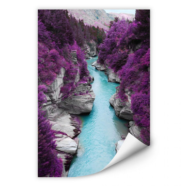 Wallprint Kawarau River Panorama