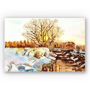 Wandbild Toetzke - Goldener Winter