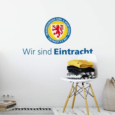 Wandsticker Eintracht Braunschweig Wir sind Eintracht