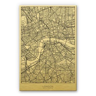Alu-Dibond-Goldeffekt Stadtplan London