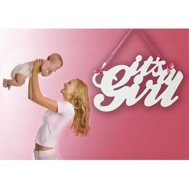 Dekobuchstaben 3D-Anhänger -It's a Girl-