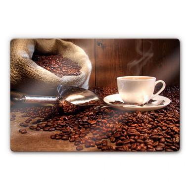 Glasbild Kaffeegenuss