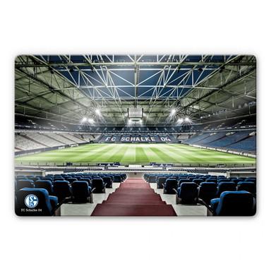 Glasbild Schalke 04 Arena Tribüne
