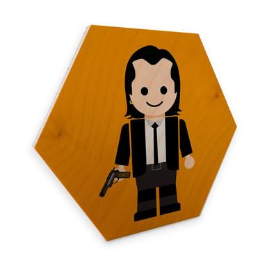 Hexagon - Holz Birke-Furnier Gomes - Pulp Fiction Spielzeug Vincent Vega