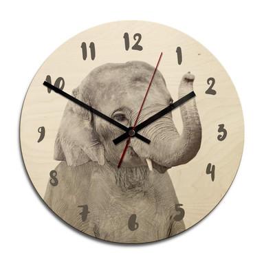 Holz-Wanduhr Sisi & Seb - Baby Elefant