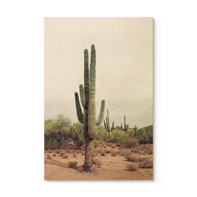 Holzposter Sisi & Seb - Wüstenkaktus