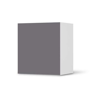 Klebefolie IKEA Besta Regal 1 Türe - Grau Light