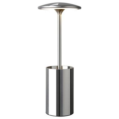 LED Tischleuchte Pott in Chrom 7W 455lm