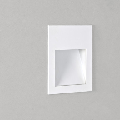 LED Wandeinbauleuchte Borgo in Weiss 1W 30lm 70x54mm 3000K