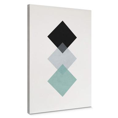 Leinwandbild Nouveauprints - Squares aqua
