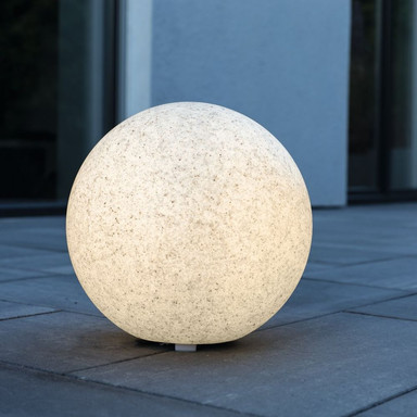 LeuchtKugel Mundan in Granit 500mm E27