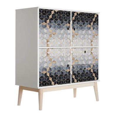 Möbelfolie Fredriksson - Blaue Geometrie