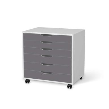 Möbelfolie IKEA Alex Rollcontainer 6 Schubladen - Grau Light