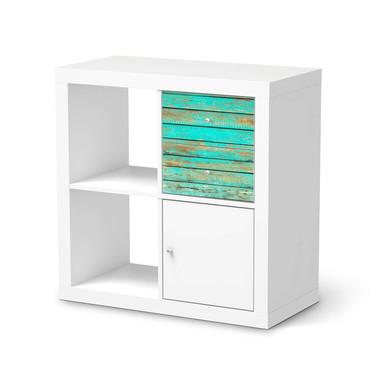 Möbelfolie IKEA IKEA Expedit Regal Schubladen - Wooden Aqua