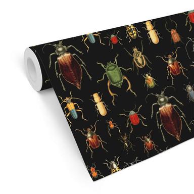 Mustertapete UN Designs - Käferparadies schwarz